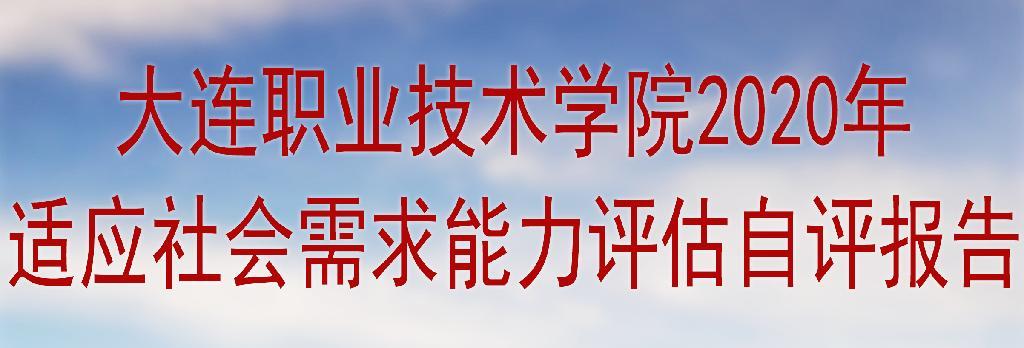 大连职ye天天yu纙hi教ㄑuan2020年适ying社会需求能力评gu自评baogao